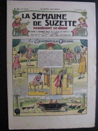 La Semaine de Suzette 22e année n°34 (1926) Nane au Maroc (2) Bleuette