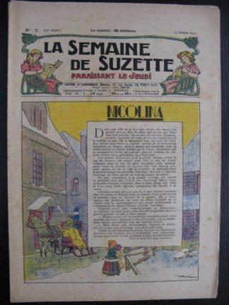 La Semaine de Suzette 23e année n°7 (17/02/1927) Bécassine