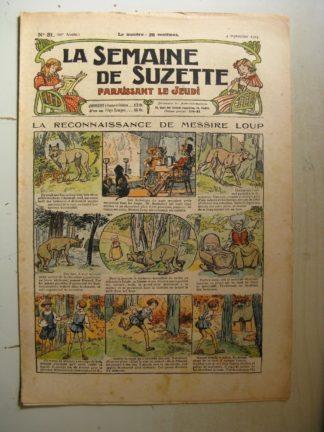 La Semaine de Suzette 20e année n°31 (1924) La reconnaissance de Messire Loup (Raymond de la Nézière)