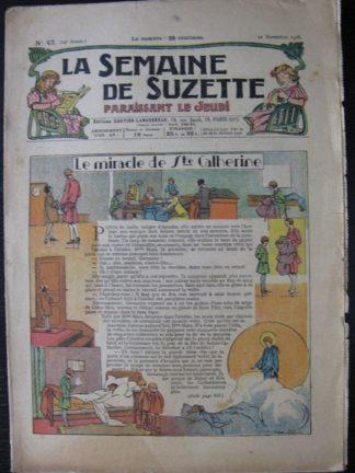 La Semaine de Suzette 24e année n°47(22 novembre 1928) Le miracle de Sainte Catherine