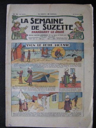 La Semaine de Suzette 25e année n°9 (28 février 1929) Miloula la negrillonne