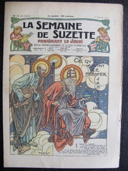 La Semaine de Suzette 27e année n°5 (1931) Ce qu'il advint du 1er janvier 1931 - Bécassine