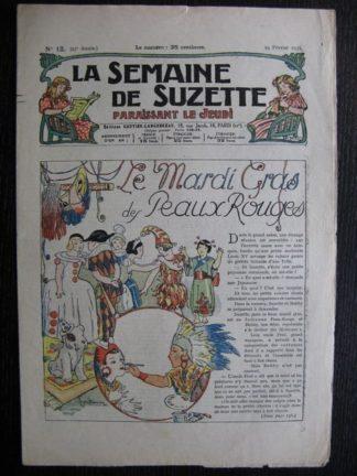 La Semaine de Suzette 27e année n°12 (1931) le mardi gras des peaux rouges - Bécassine