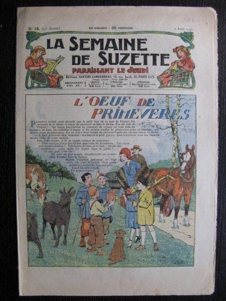 La Semaine de Suzette 27e année n°18 (1931) L'œuf de primevers - Le Rallic - Bécassine