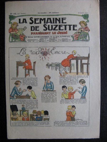 La Semaine de Suzette 27e année n°20 (1931) La tache d'encre - Bécassine