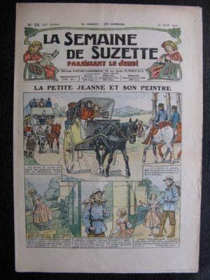 La Semaine de Suzette 27e année n°22 (1931) La petite Jeanne et son peintre – Bleuette – Bécassine