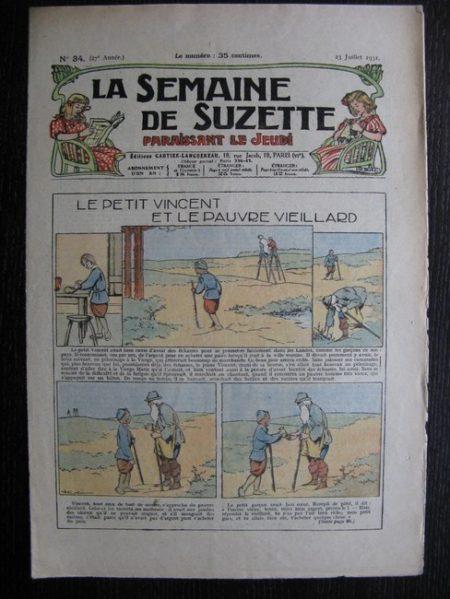 La Semaine de Suzette 27e année n°34 (1931) Le petit Vincent et le pauvre vieillard - Mimi à Paris