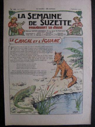 La Semaine de Suzette 27e année n°40 (1931) Le chacal et l'iguane (Le Rallic) - Marraine chez Nane
