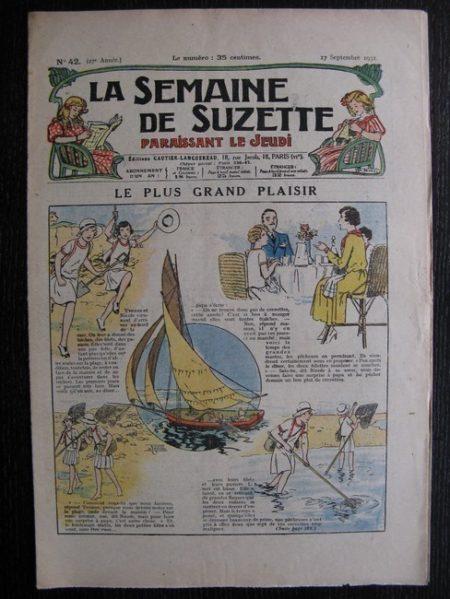 La Semaine de Suzette 27e année n°42 (1931) Le plus grand plaisir (Le Rallic) - Marraine chez Nane