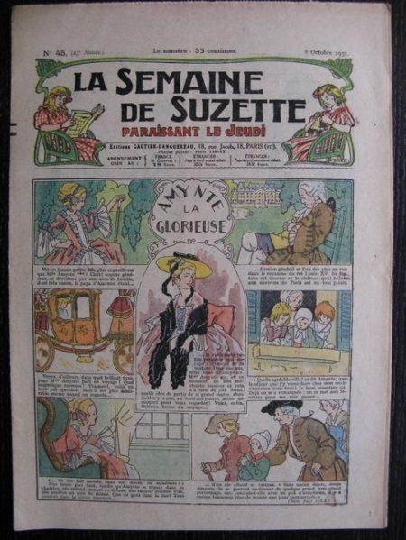 La Semaine de Suzette 27e année n°45 (1931) Amynte la glorieuse - Marraine chez Nane