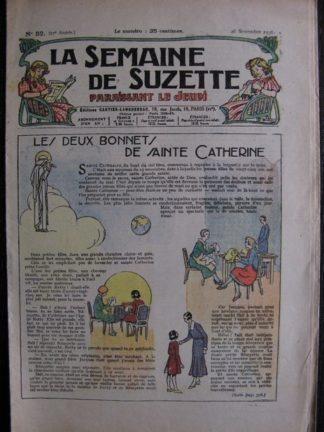 La Semaine de Suzette 27e année n°52 (1931) Les deux bonnets de Sainte Catherine