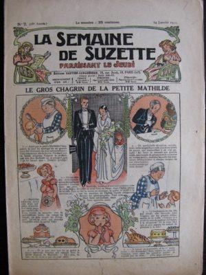 La Semaine de Suzette 28e année n°7 (1932) Le gros chagrin de la petite Mathilde – Bécassine