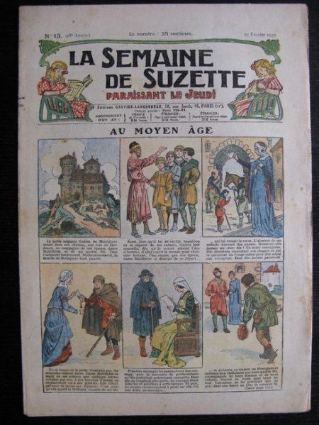 La Semaine de Suzette 28e année n°13 (1932) Au Moyen Âge - Bécassine