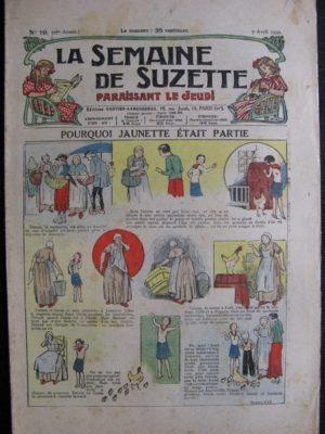 La Semaine de Suzette 28e année n°19 (1932) Pourquoi Jaunette était partie – Bécassine