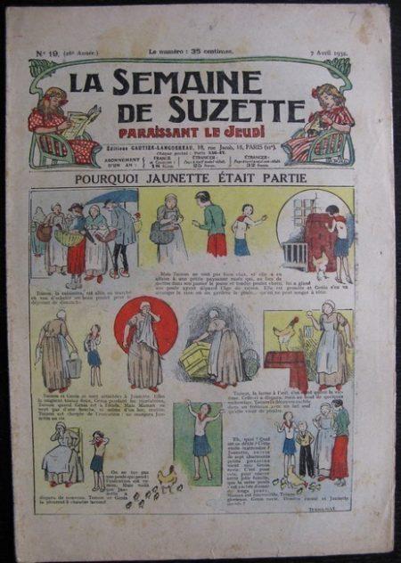La Semaine de Suzette 28e année n°19 (1932) Pourquoi Jaunette était partie - Bécassine