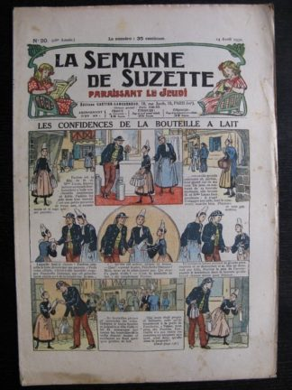 La Semaine de Suzette 28e année n°20 (1932) Les confidences de la bouteille à lait