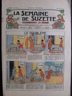 La Semaine de Suzette 28e année n°22 (1932) Le problème – Bécassine