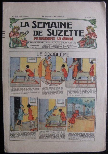 La Semaine de Suzette 28e année n°22 (1932) Le problème - Bécassine
