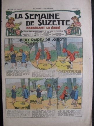 La Semaine de Suzette 28e année n°23 (1932) Deux paires de sabots - Bécassine