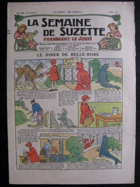 La Semaine de Suzette 28e année n°24 (1932) Le diner de Belle-Robe - Bécassine
