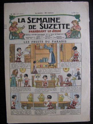La Semaine de Suzette 28e année n°25 (1932) Les fruits du paradis - Bécassine