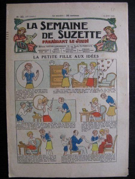 La Semaine de Suzette 28e année n°30 (1932) La petite fille aux idées - Bleuette Bécassine