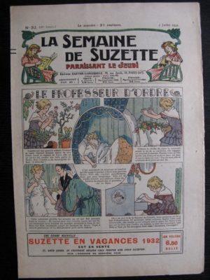 La Semaine de Suzette 28e année n°32 (1932) Le professeur d'ordre – Mimi en voyage