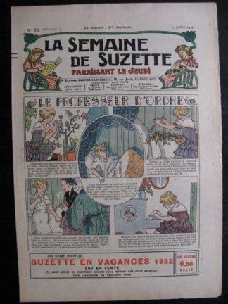 La Semaine de Suzette 28e année n°32 (1932) Le professeur d'ordre - Mimi en voyage