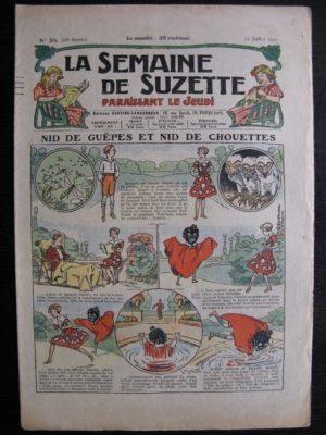 La Semaine de Suzette 28e année n°34 (1932) Nid de guêpes et nid de chouettes – Mimi en voyage