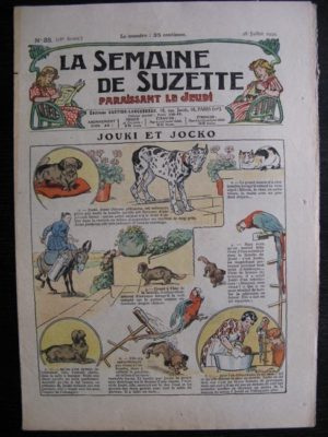 La Semaine de Suzette 28e année n°35 (1932) Jouki et Jocko – Mimi en voyage