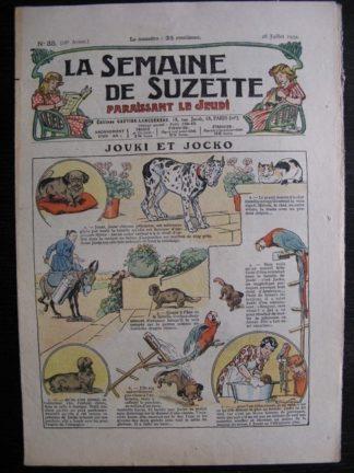 La Semaine de Suzette 28e année n°35 (1932) Jouki et Jocko - Mimi en voyage