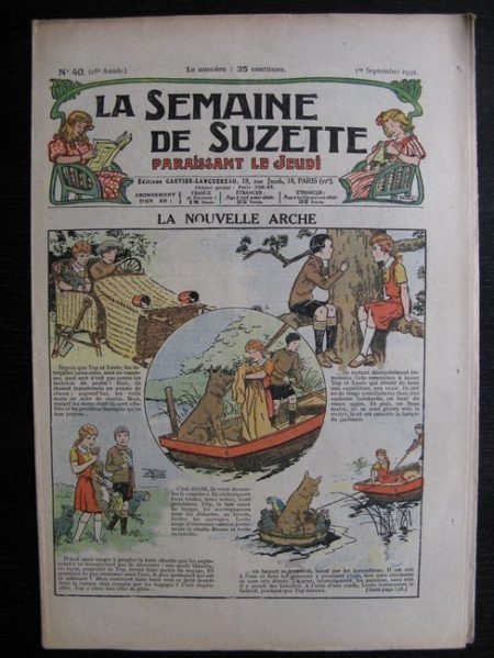La Semaine de Suzette 28e année n°40 (1932) La nouvelle arche (Le Rallic) Nane et sa fille