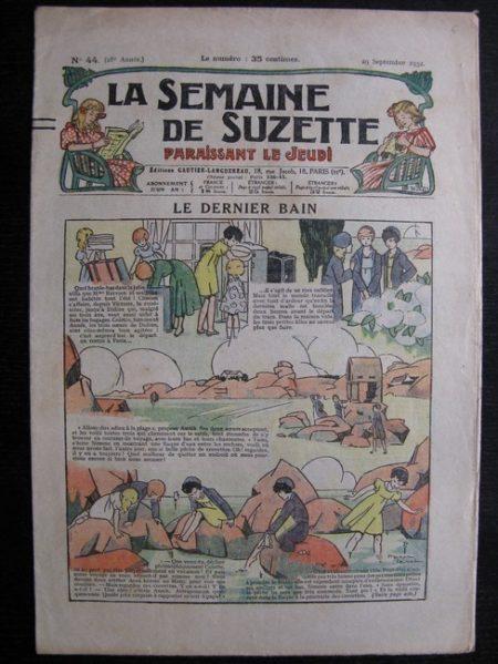 La Semaine de Suzette 28e année n°44 (1932) Le dernier bain (Manon Iessel) Nane et sa fille