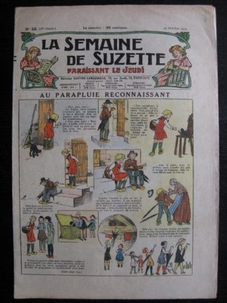 La Semaine de Suzette 28e année n°48 (1932) Au parapluie reconnaissant Nane et sa fille