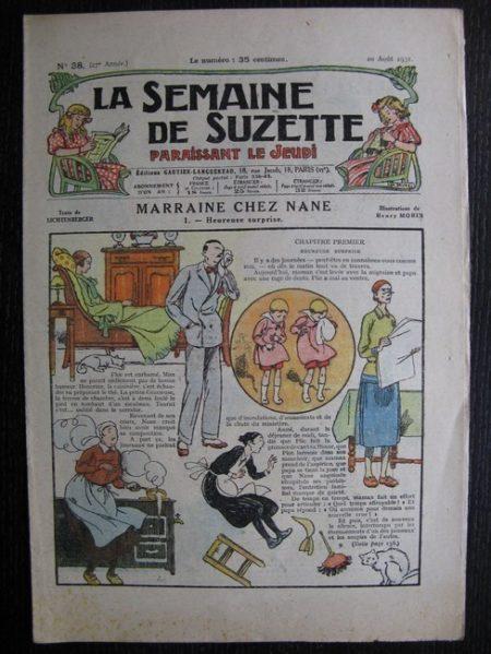 La Semaine de Suzette 27e année n°38 (1931) Marraine chez Nane