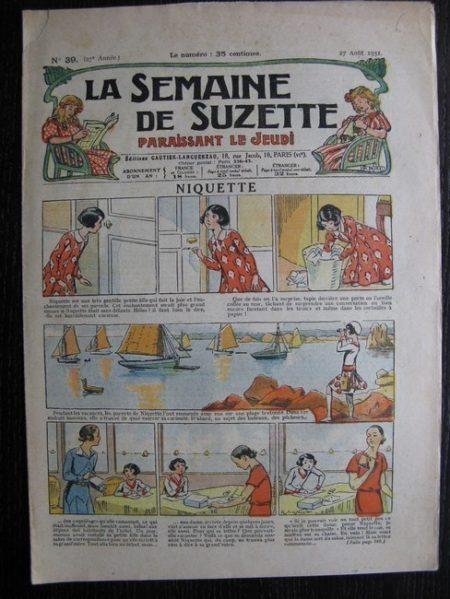 La Semaine de Suzette 27e année n°39 (1931) Niquette - Marraine chez Nane