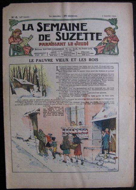 La Semaine de Suzette 28e année n°6 (1932) Le pauvre vieux et les rois - Bleuette Bécassine