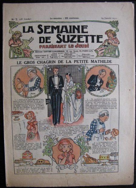 La Semaine de Suzette 28e année n°7 (1932) Le gros chagrin de la petite Mathilde - Bécassine