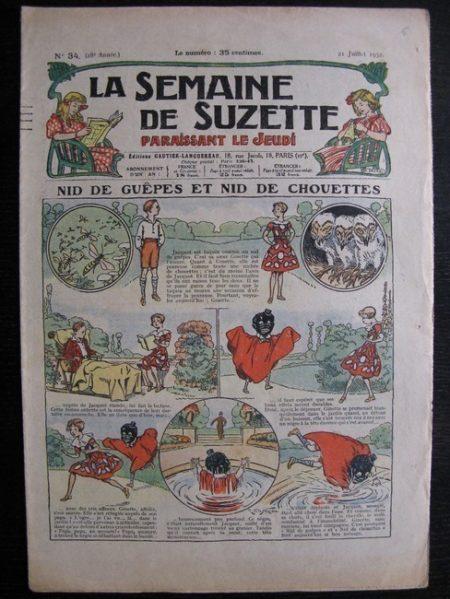 La Semaine de Suzette 28e année n°34 (1932) Nid de guêpes et nid de chouettes - Mimi en voyage
