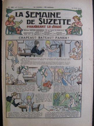 La Semaine de Suzette 28e année n°39 (1932) Chapeau bateau panier (Manon Iessel) Nane et sa fille