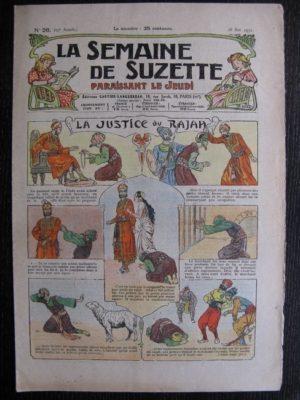 La Semaine de Suzette 27e année n°26 (1931) La justice du Rajah – Bleuette Bécassine