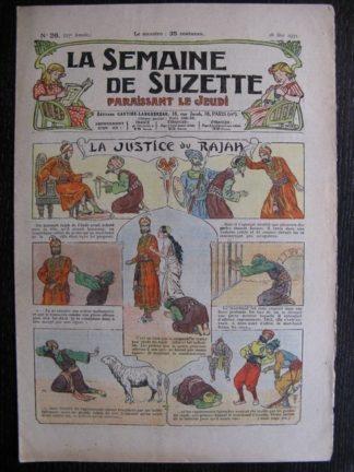 La Semaine de Suzette 27e année n°26 (1931) La justice du Rajah - Bleuette Bécassine