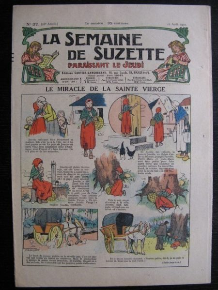 La Semaine de Suzette 28e année n°37 (1932) Le miracle de la sainte vierge - Mimi en voyage