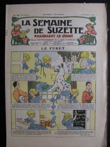 La Semaine de Suzette 28e année n°49 (1932) Le furet (Manon Iessel) Bleuette Nane et sa fille