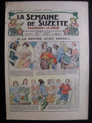La Semaine de Suzette 28e année n°51 (1932) Si la montre avait sonné - Nane et sa fille