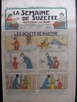 La Semaine de Suzette 29e année n°7 (1933) Les doigts de Martine – Bécassine Bleuette