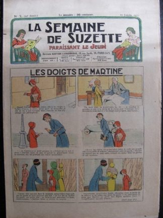 La Semaine de Suzette 29e année n°7 (1933) Les doigts de Martine - Bécassine Bleuette