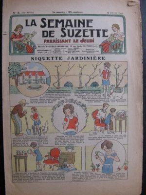 La Semaine de Suzette 29e année n°8 (1933) Niquette jardinière – Bécassine Bleuette