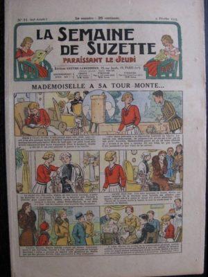 La Semaine de Suzette 29e année n°11 (1933) Mademoiselle à son tour monte – Bécassine Bleuette