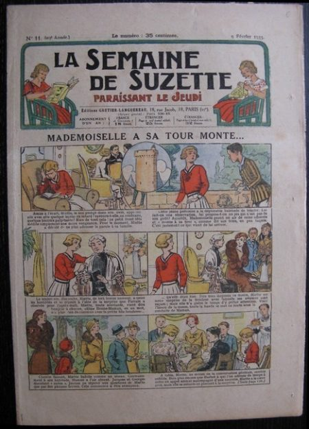 La Semaine de Suzette 29e année n°11 (1933) Mademoiselle à son tour monte - Bécassine Bleuette